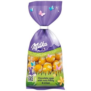 Яйца шоколадные Milka с орехами и хрустящими хлопьями 100г - купить, цены на Восторг - фото 1