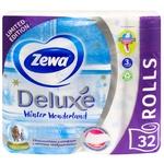Туалетная бумага Zewa Deluxe Winter Wonderland трехслойная 32шт