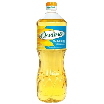 Oleina Traditional Refined Sunflower Oil 850ml - buy, prices for Auchan - photo 1