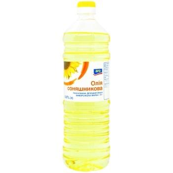 Масло Aro подсолнечное рафинированное 0,87л