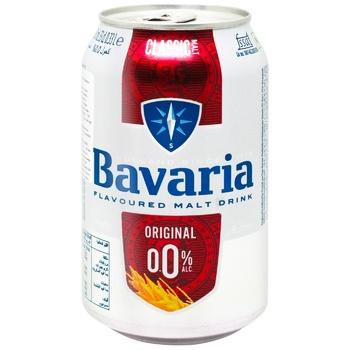 Пиво Bavaria светлое безалкогольное 0% 0,33л - купить, цены на Ашан - фото 1