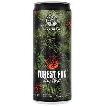Mikki Brew Forest Fog Hazy IPA Light Unfiltered Beer 6% 0,33l - buy, prices for CityMarket - photo 1