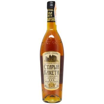 Staryi Kakheti 3 stars Cognac 40% 0,5l - buy, prices for CityMarket - photo 1