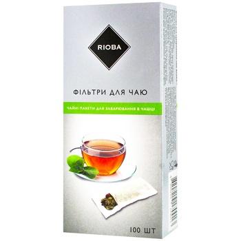 Фильтры для заваривания чая Rioba 70х125мм 100шт
