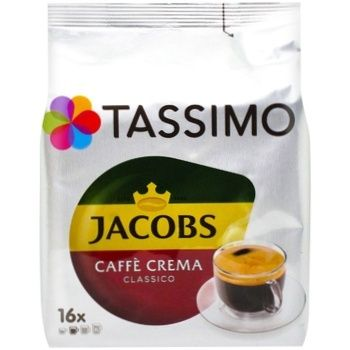 Кофе Jacobs Tassimo Crema молотый в капсулах 16шт 112г