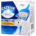 Наповнювач Catsan Active Fresh грудкувальний для котячого туалету 5л
