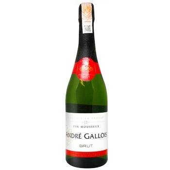 Andre Gallois Brut Sparkling White Wine 10,5% 0,75l