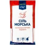 Соль METRO Chef пищевая морская йодированная помел №1 1кг