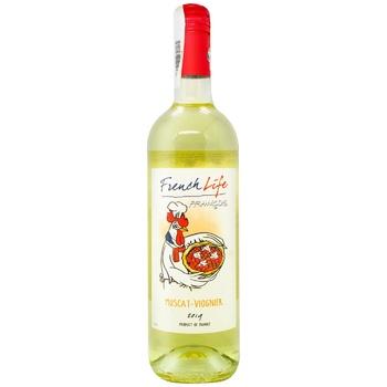 Вино French Life Muscat-Viognier белое сухое 11,5% 0,75л