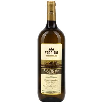 Vardiani Alazani Valley white semi-sweet wine 9-13% 1,5l - buy, prices for CityMarket - photo 1