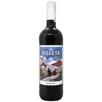 Вино La Piqueta Мерло красное полусухое 13% 0,75л