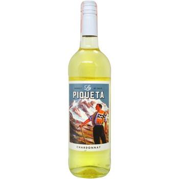 Вино La Piqueta Шардоне белое сухое 13% 0,75л