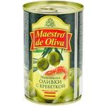 Оливки зелені Maestro de Oliva з креветкою 300мл