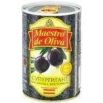 Маслины Maestro de Oliva Супергигант с/к ж/б 425г - купить, цены на Метро - фото 2