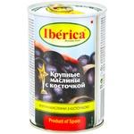 Маслини Іберіка крупні чорні з кісточкою 420г