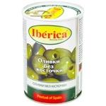 Оливки зелені Iberica без кісточки 420г