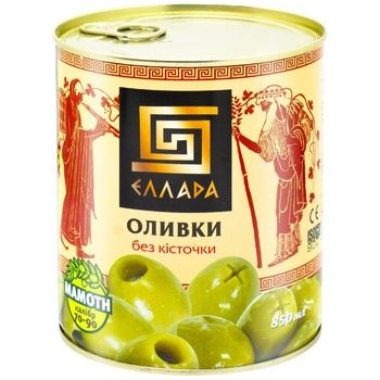 Ellada green without bone olive 850ml - buy, prices for Auchan - photo 1