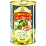 Оливки зеленые Maestro de Oliva с семгой 300г - купить, цены на Метро - фото 2