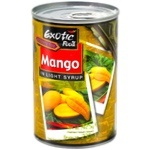 Exotic Food in light syrup canned mango 420g