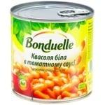 Фасоль Бондюэль белая в томатном соусе 425мл