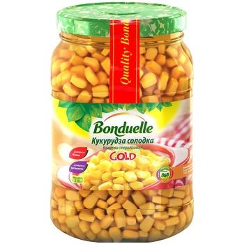 Кукуруза Бондюэль Голд сладкая 580мл - купить, цены на Метро - фото 1