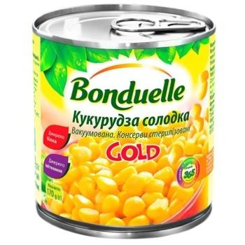 Кукуруза Бондюэль Голд сладкая консервированная 425мл - купить, цены на Метро - фото 1