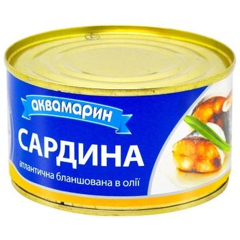 Сардина Аквамарин бланшированная в масле 230г - купить, цены на Восторг - фото 4