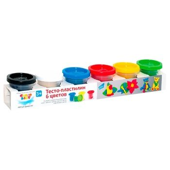 Набор для детского творчества Genio Kids Тесто-пластилин 6 цветов