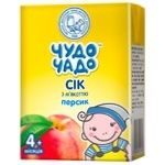 Chudo-Chado peach juice with pulp for children from 4 months 200ml