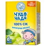 Chudo-Chado grape-apple juice for children from 6 months 200ml