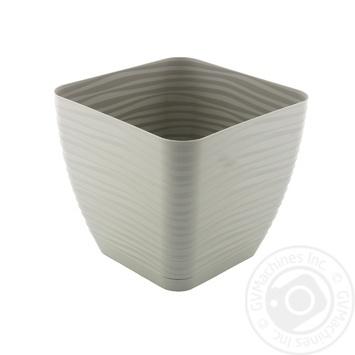 Form-Plastic Sahara Mini Gray Square Flowerpot 17cm 3l