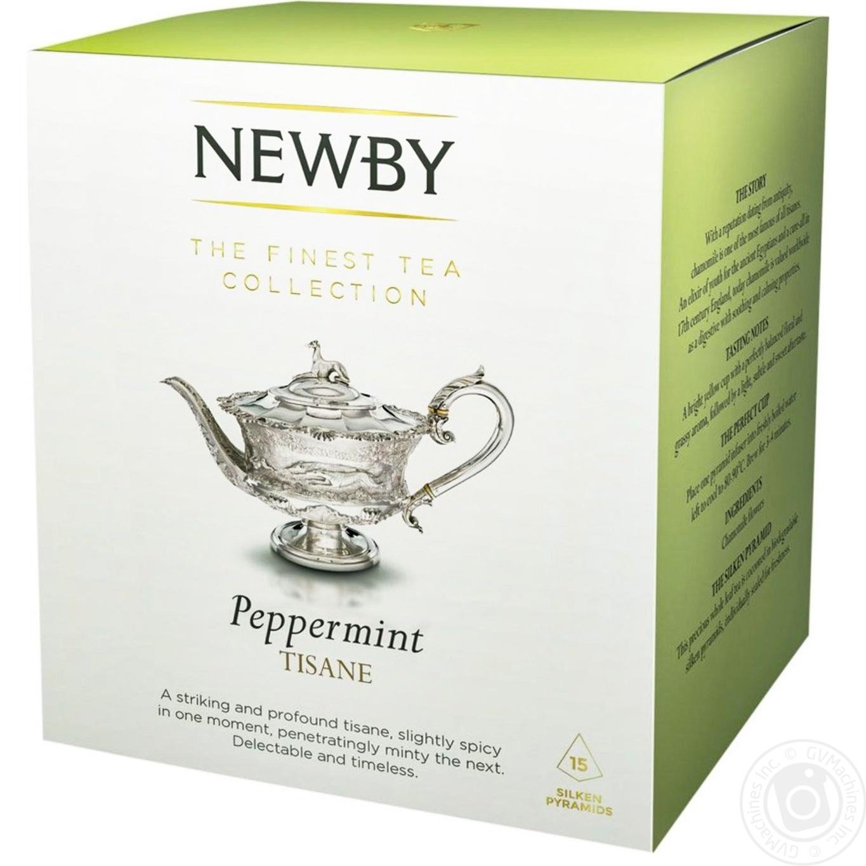 Чай травяной крупнолистовой Newby Peppermint 15 пакетиков 30г