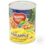 Ананас Tropic life кольца в сиропе 580мл - купить, цены на Фуршет - фото 2