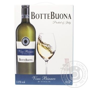 Вино Botte Buona Vino Bianco D'Italia белое полусухое 11% 0,75л