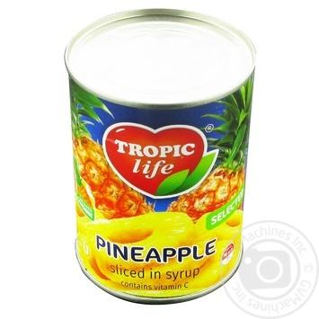 Ананас Tropic life кільця в сиропі 580мл - купити, ціни на Фуршет - фото 3