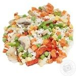 Fresh Frozen Vegetables with Rice and Mushrooms