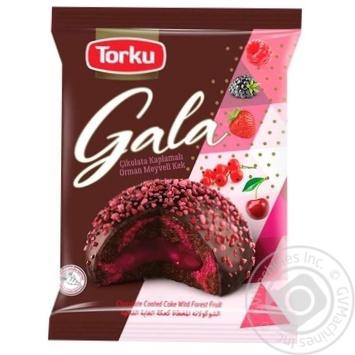 Пирожное Torku Gala с лесными ягодами 50г - купить, цены на МегаМаркет - фото 1