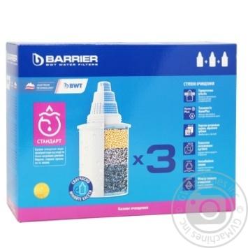 Касета змін. до фільтрів-кувшинів Barrier Стандарт 3шт х12 - купити, ціни на МегаМаркет - фото 1