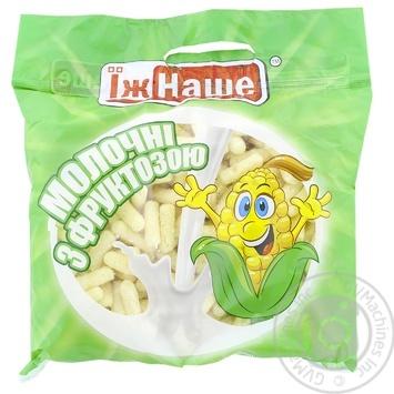 Палочки кукурузные Їж Наше молочные с фруктозой 150г - купить, цены на Novus - фото 1