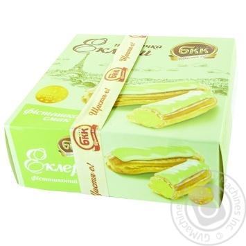 Пирожные БКК Эклеры Фисташковый вкус 165г - купить, цены на Novus - фото 1