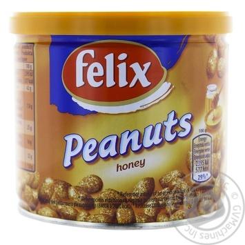 Арахіс Фелікс зі смаком меду 120г залізна банка Польща - купити, ціни на МегаМаркет - фото 1