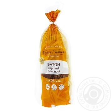 Батон КиевХлеб Киевский нарезанный  500г - купить, цены на Novus - фото 1