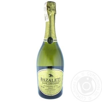 Sparkling champagne Bazaleti brut 12% 750ml glass bottle Georgia - buy, prices for Novus - image 2