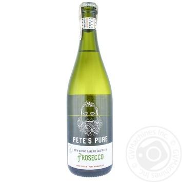 Pete's Pure Prosecco White Brut Sparkling Wine 9% 0.75l - buy, prices for CityMarket - photo 1