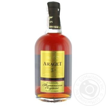 Коньяк Araget 3* 40% 0,5л - купить, цены на МегаМаркет - фото 1