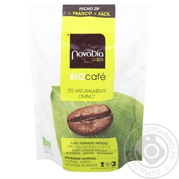 Roasted whole bean coffee Novo Dia Supreme high quailty vacuum packaging 250g Portugal - buy, prices for MegaMarket - image 1