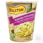 Пюре картофельное Роллтон со вкусом ветчины и сыра 55г