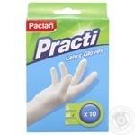 Рукавички Paclan латексні 10шт. розм. М х10