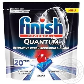 Таблетки для посудомийних машин Finish Quantum Ultimate 20шт. - купити, ціни на Ашан - фото 1