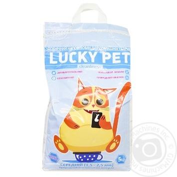 Наповнювач бентонітовий Lucky Pet Лаванда середній 5кг - купити, ціни на МегаМаркет - фото 1